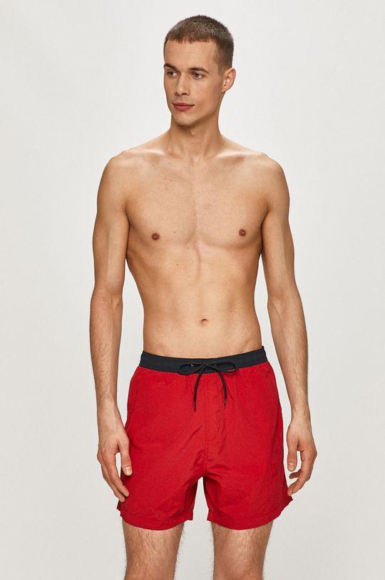 Brave Soul - Plavkové šortky červená