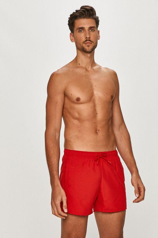 Emporio Armani - Plavkové šortky červená