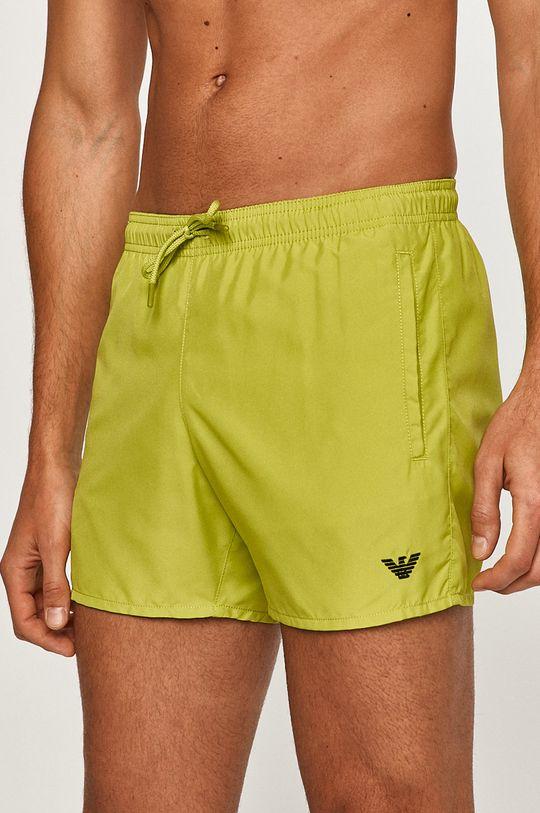 Emporio Armani - Plavkové šortky žlutě zelená