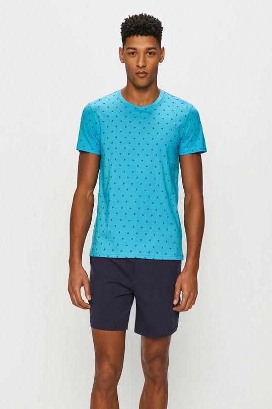morská modrá Henderson - Pyžamo Pánsky
