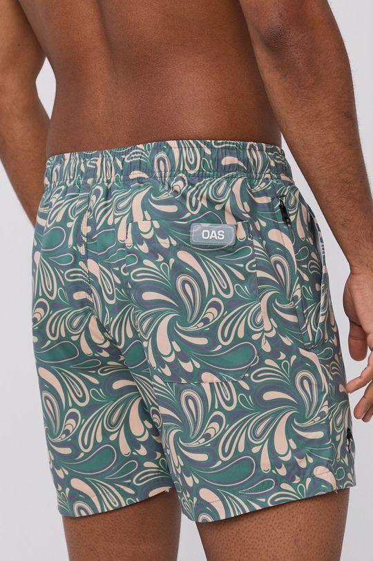 OAS - Szorty kąpielowe brązowa zieleń