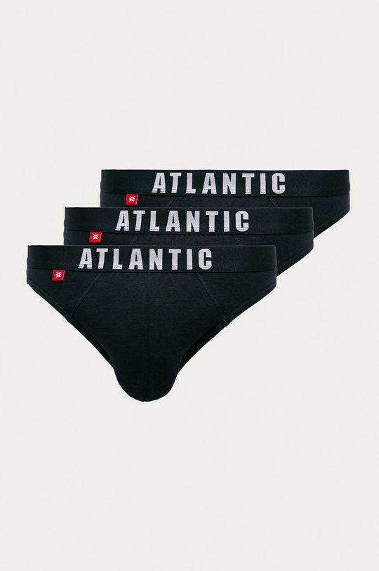 tmavomodrá Atlantic - Slipy (3-pak) Pánsky