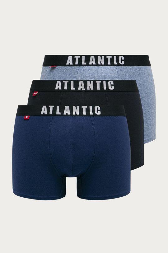 niebieski Atlantic - Bokserki (3-pack) Męski