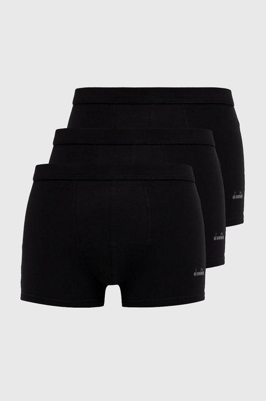 czarny Diadora - Bokserki (3-pack) Męski