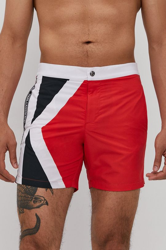 červená Karl Lagerfeld - Plavkové šortky Pánsky
