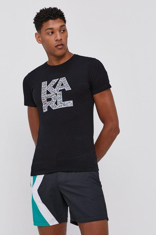 Karl Lagerfeld - Plavkové šortky černá