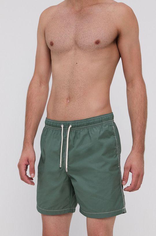 zelená United Colors of Benetton - Plavkové šortky Pánský