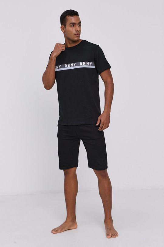 Dkny - T-shirt piżamowy czarny