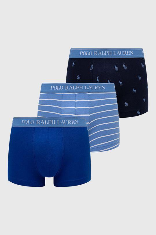 modrá Polo Ralph Lauren - Boxerky (3-pack) Pánský