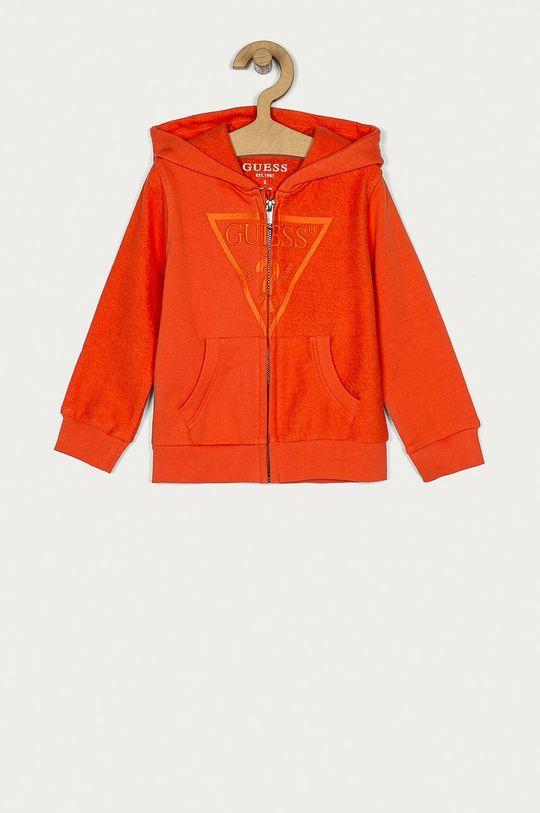 pomarańczowy Guess - Bluza bawełniana dziecięca 92-122 cm Chłopięcy