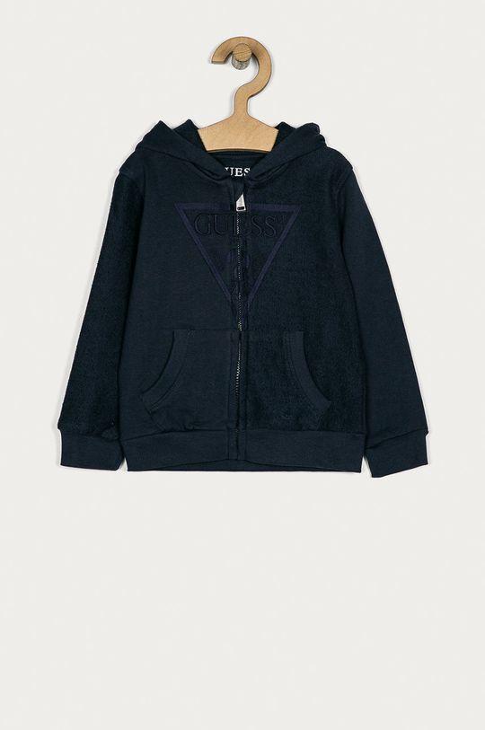 granatowy Guess - Bluza bawełniana dziecięca 92-122 cm Chłopięcy