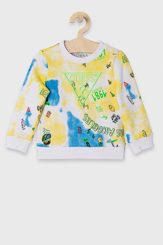 żółty Guess - Bluza bawełniana dziecięca 92-122 cm Chłopięcy