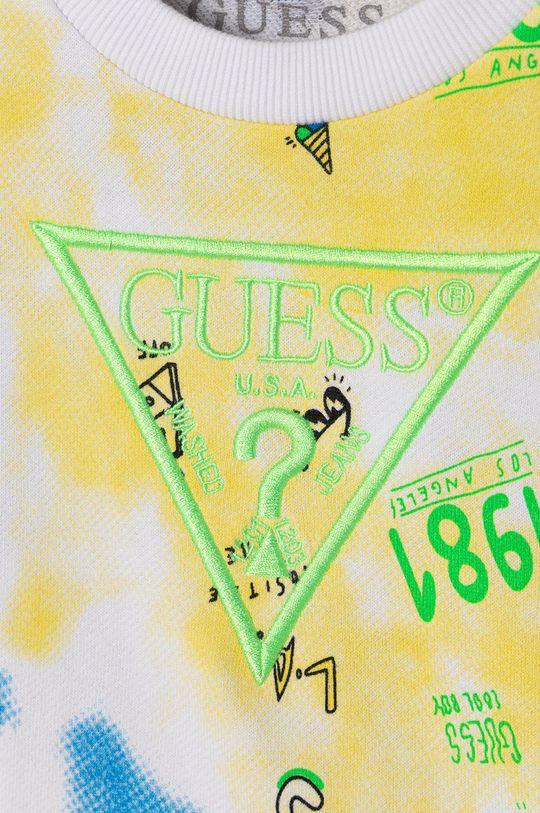 Guess - Bluza bawełniana dziecięca 92-122 cm żółty