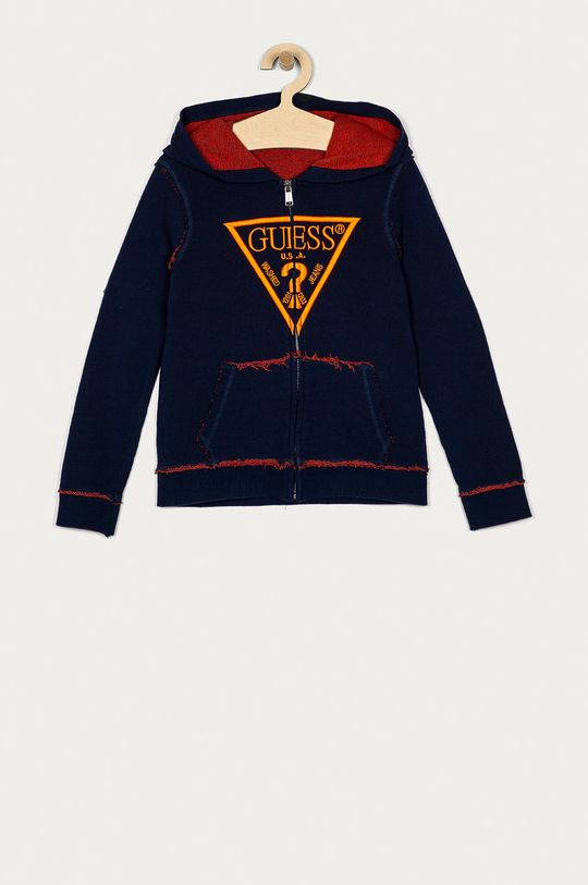 granatowy Guess - Bluza bawełniana dziecięca 128-175 cm Chłopięcy