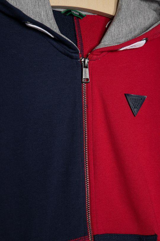 Guess - Bluza bawełniana dziecięca 116-176 cm czerwony