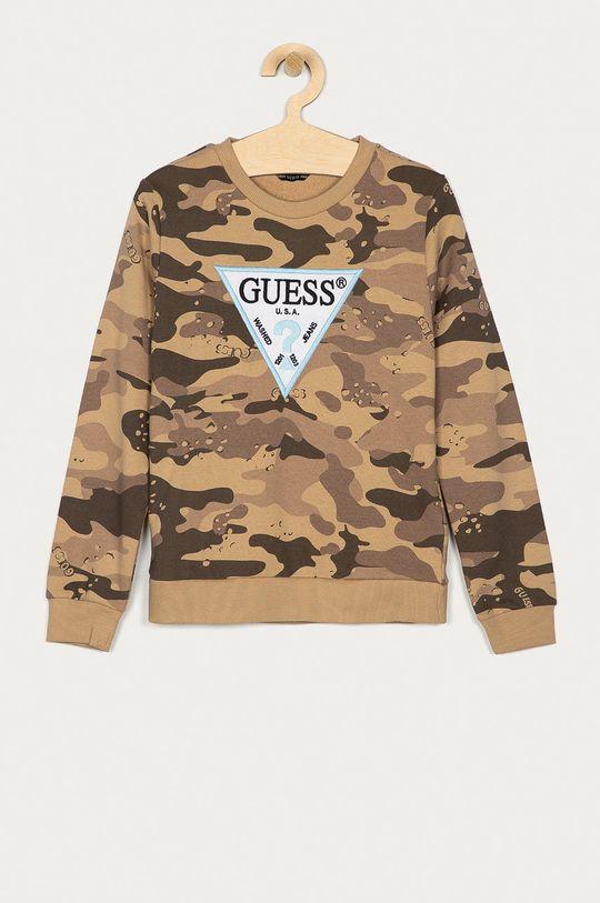 brązowy Guess - Bluza bawełniana dziecięca 116-176 cm Chłopięcy