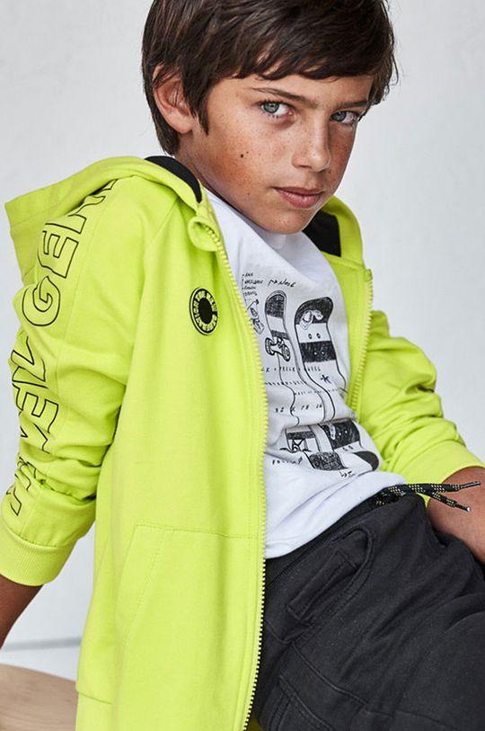 žlto-zelená Mayoral - Detská mikina Chlapčenský