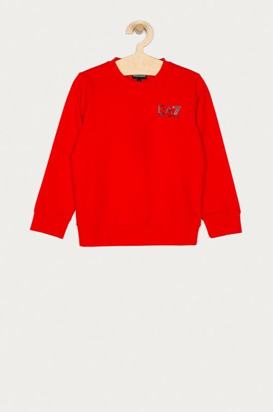 červená EA7 Emporio Armani - Detská mikina 104-164 cm Chlapčenský
