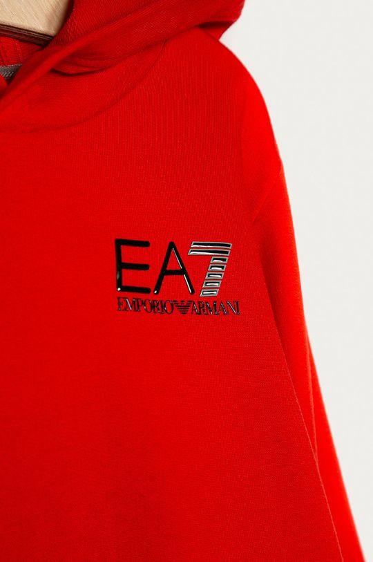 EA7 Emporio Armani - Detská bavlnená mikina 104-164 cm červená
