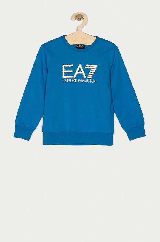 modrá EA7 Emporio Armani - Detská mikina 104-164 cm Chlapčenský