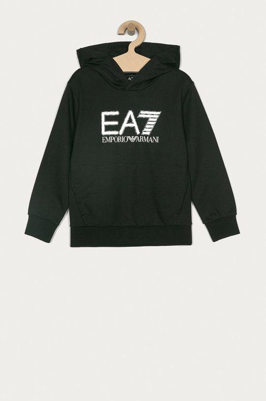czarny EA7 Emporio Armani - Bluza bawełniana dziecięca 104-164 cm Chłopięcy