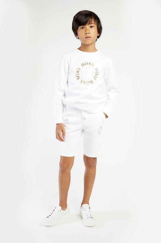 biały Boss - Bluza dziecięca Chłopięcy