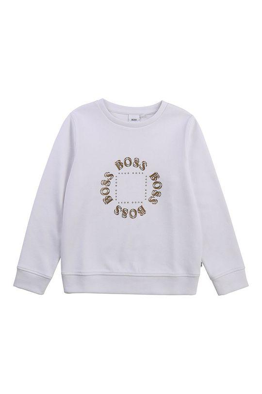 Boss - Bluza dziecięca biały