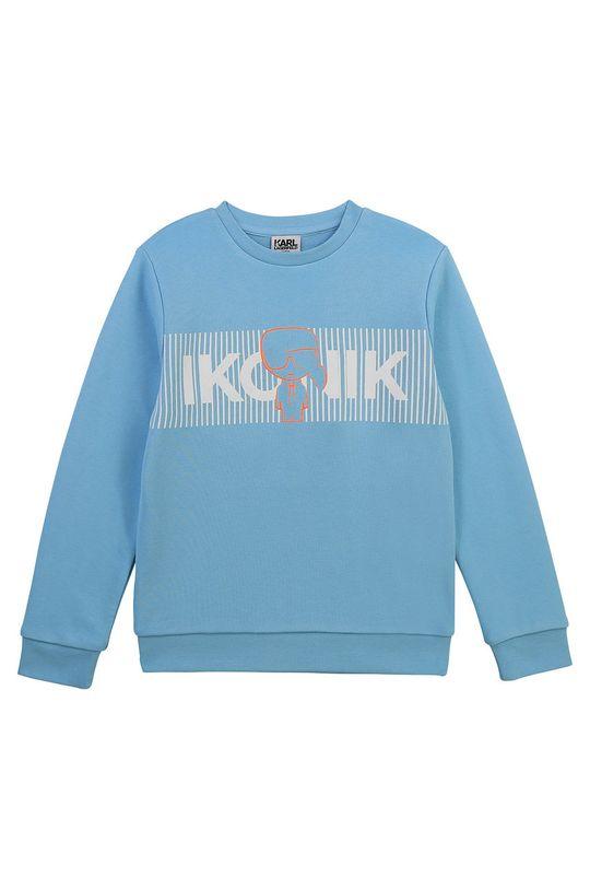 Karl Lagerfeld - Bluza dziecięca jasny niebieski