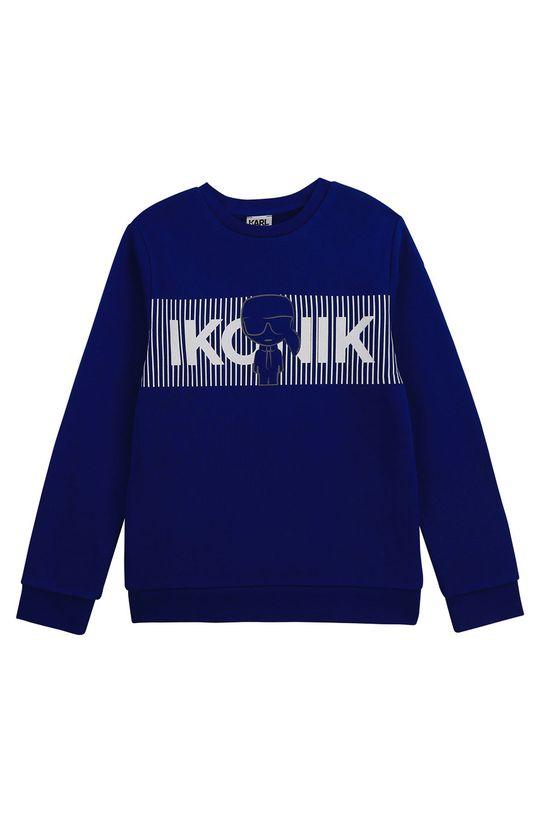 niebieski Karl Lagerfeld - Bluza dziecięca Chłopięcy