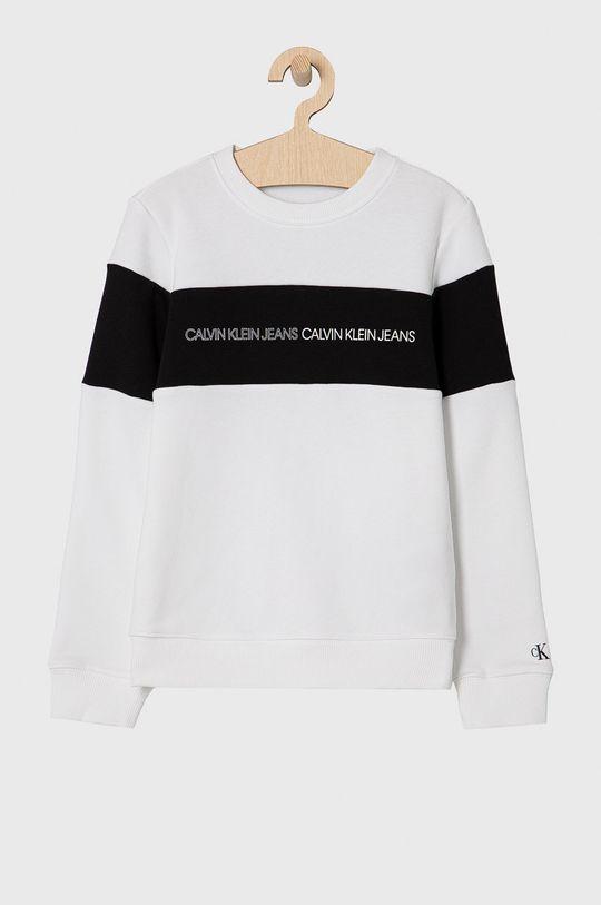 biały Calvin Klein Jeans - Bluza dziecięca 140-176 cm Chłopięcy