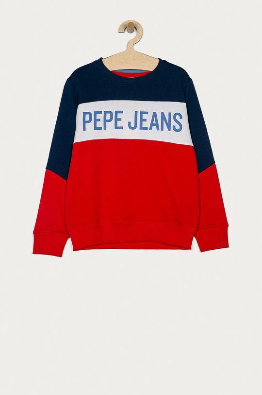 czerwony Pepe Jeans - Bluza bawełniana David 128-180 cm Chłopięcy