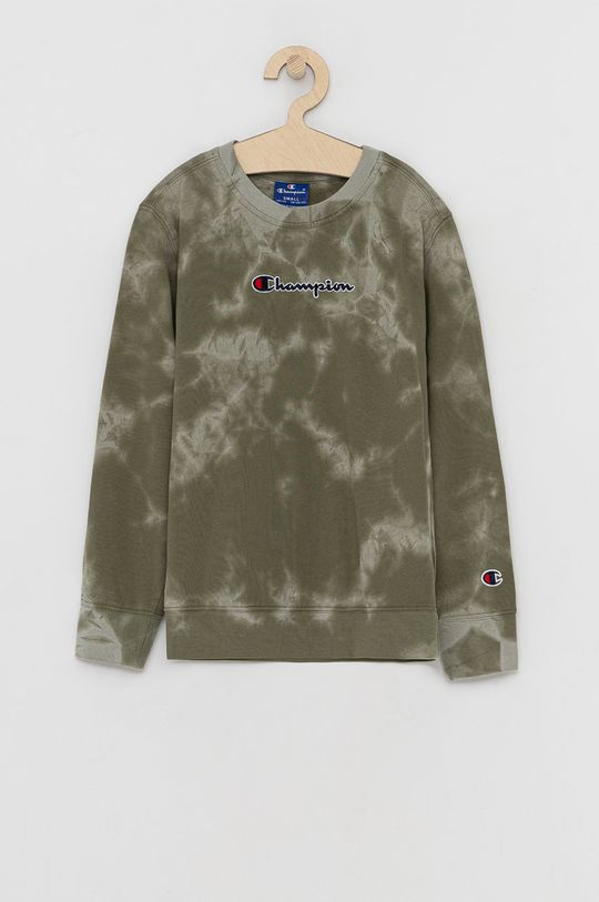 brązowa zieleń Champion - Bluza bawełniana dziecięca Chłopięcy