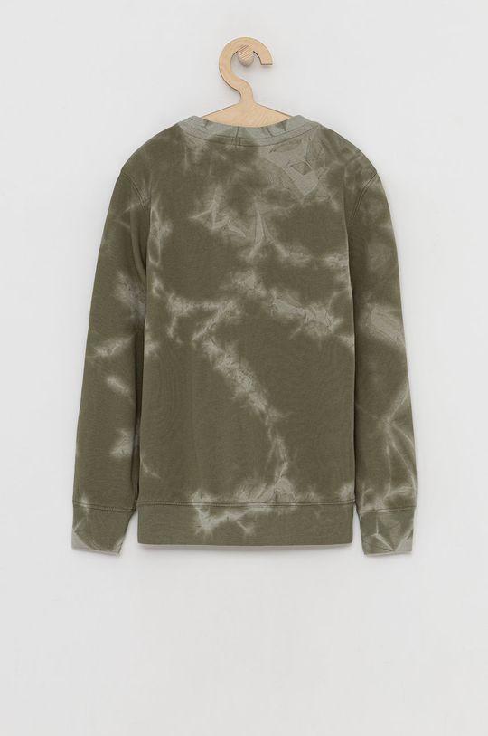 Champion - Bluza bawełniana dziecięca brązowa zieleń
