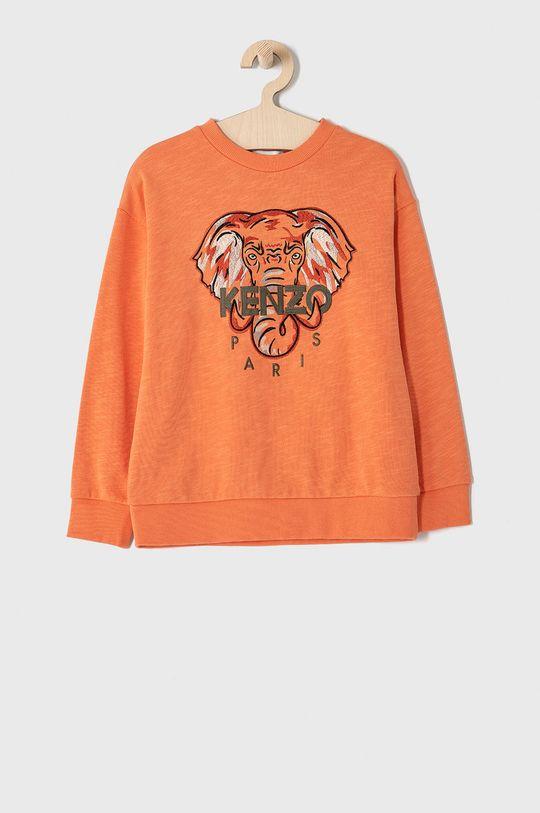 mandarynkowy KENZO KIDS - Bluza bawełniana dziecięca 128-152 cm Chłopięcy