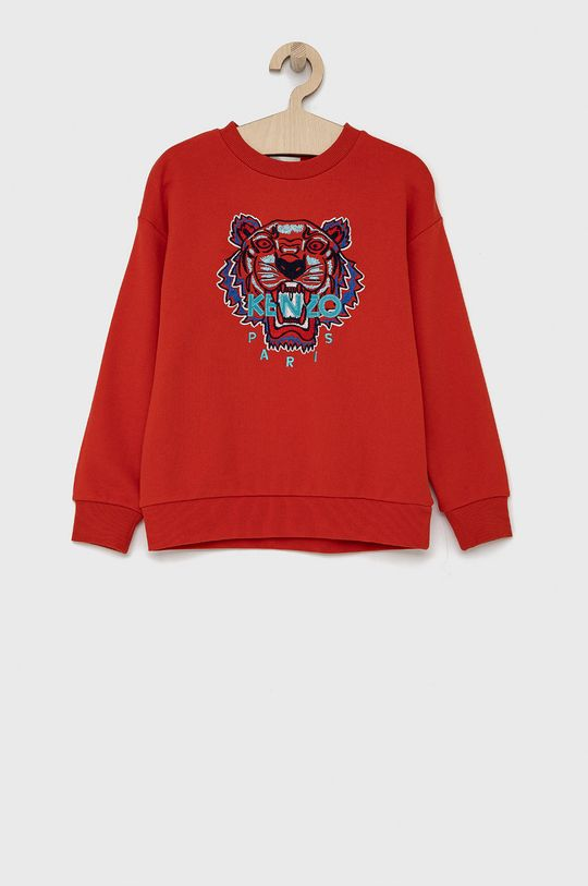 czerwony KENZO KIDS - Bluza bawełniana dziecięca 128-152 cm Chłopięcy