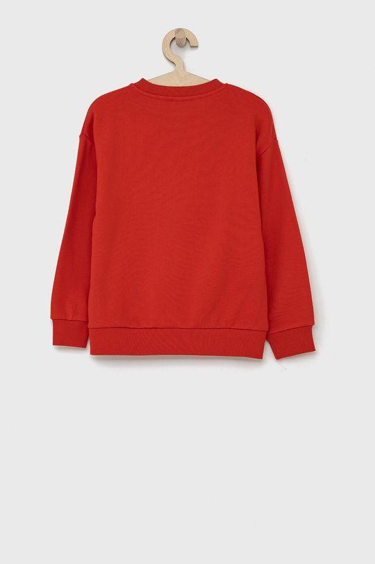 KENZO KIDS - Bluza bawełniana dziecięca 128-152 cm czerwony