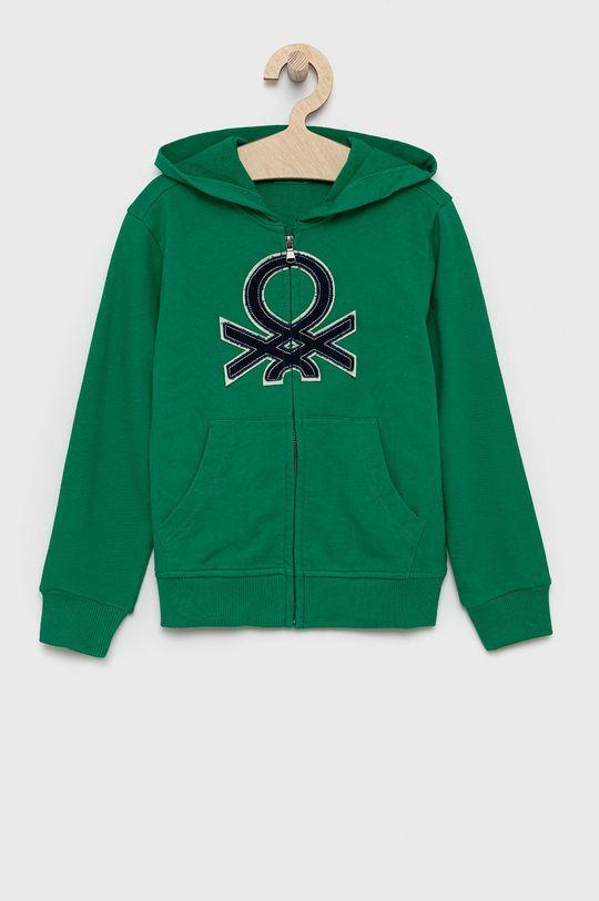 ostry zielony United Colors of Benetton - Bluza bawełniana dziecięca Chłopięcy