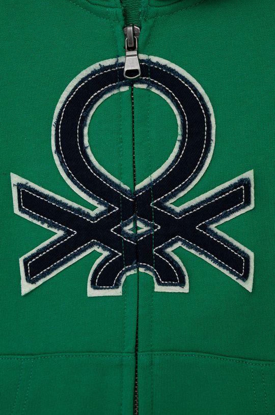 United Colors of Benetton - Bluza bawełniana dziecięca ostry zielony