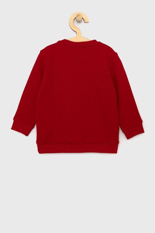United Colors of Benetton - Dětská bavlněná mikina X Disney červená