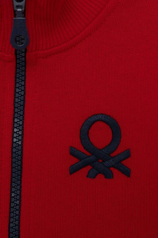 United Colors of Benetton - Dětská bavlněná mikina červená