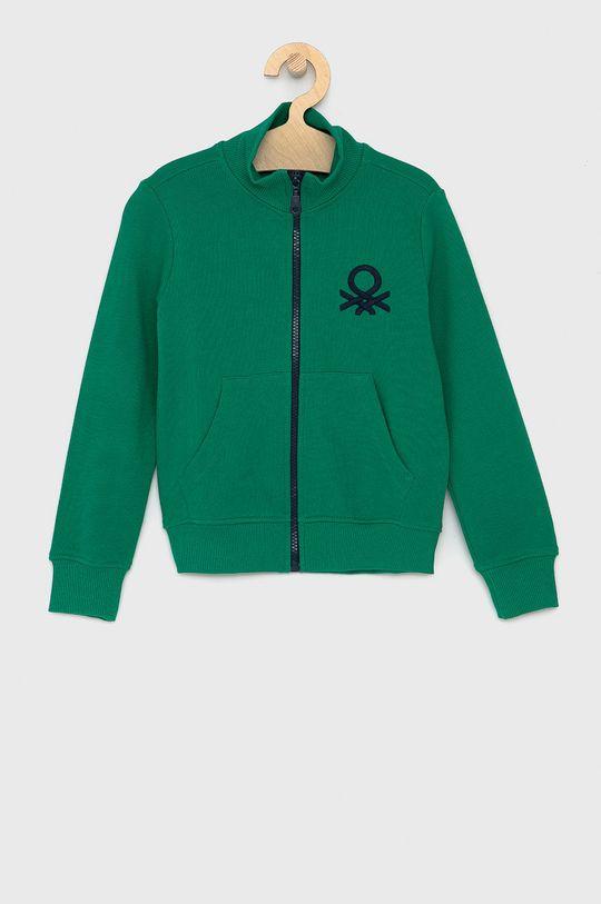 zelená United Colors of Benetton - Dětská bavlněná mikina Chlapecký