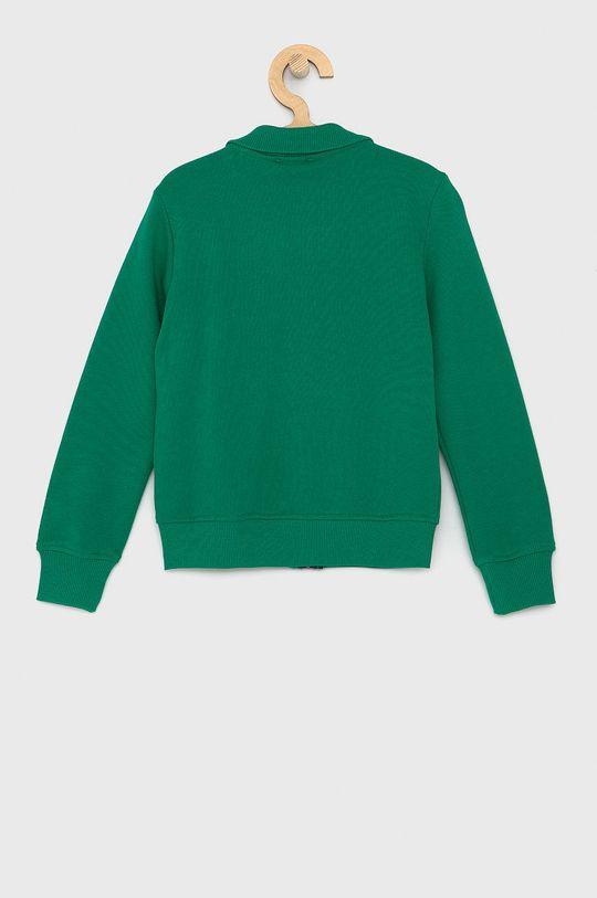 United Colors of Benetton - Dětská bavlněná mikina zelená
