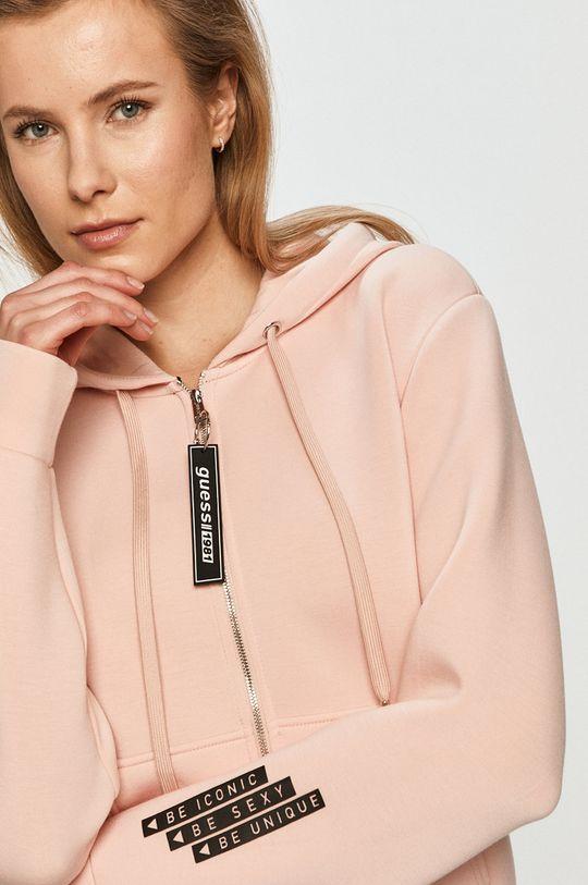 różowy Guess - Bluza