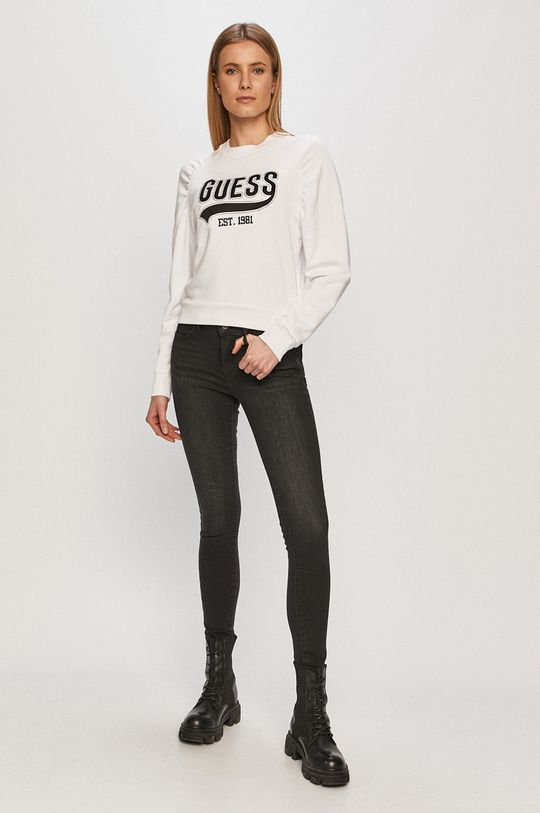 Guess - Bluza biały