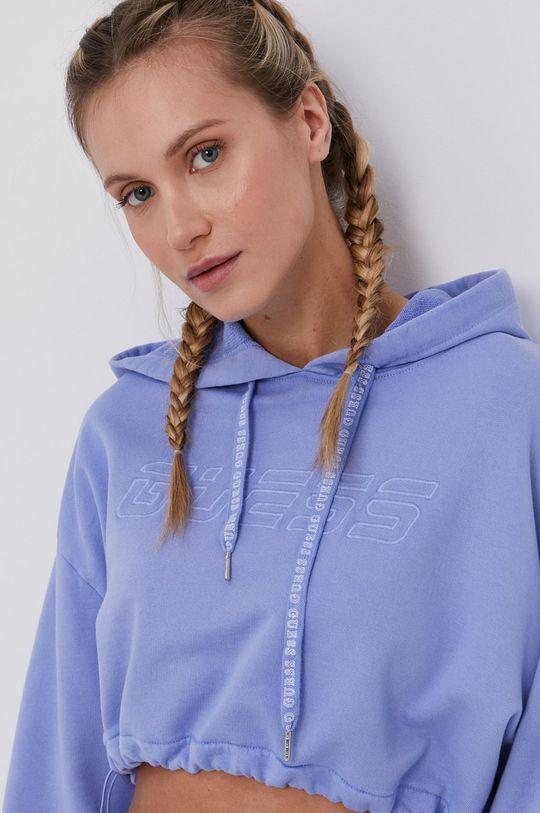 lawendowy Guess - Bluza bawełniana
