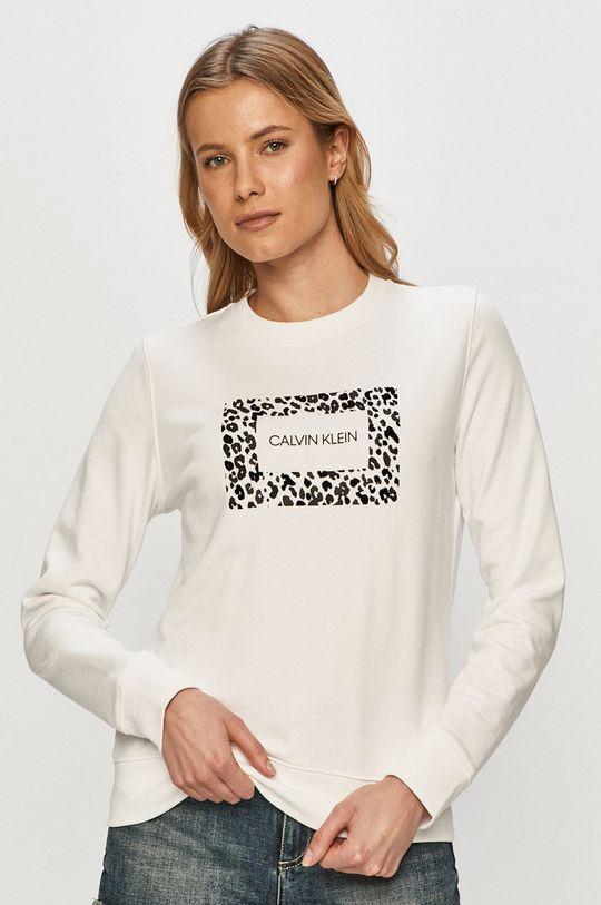 biela Calvin Klein - Bavlnená mikina Dámsky