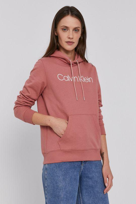 różowy Calvin Klein - Bluza bawełniana Damski