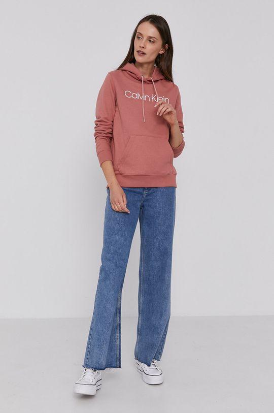 Calvin Klein - Bluza bawełniana różowy