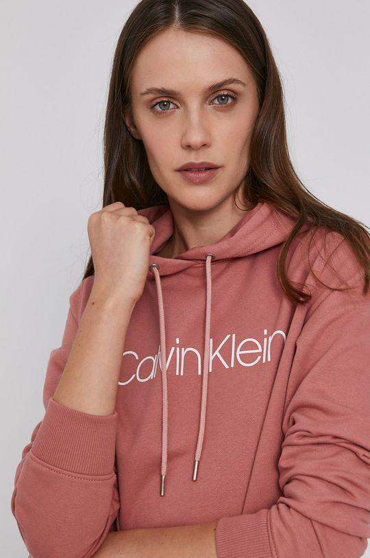 różowy Calvin Klein - Bluza bawełniana