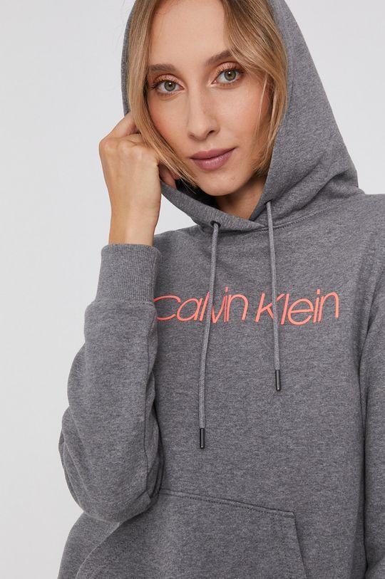 šedá Calvin Klein - Bavlněná mikina